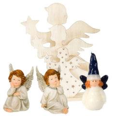 Božićne dekoracije anđeli i svijeće