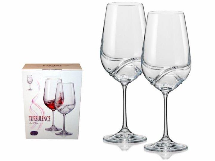 Čaše za crno vino od kristalina - 350 ML Turbulence