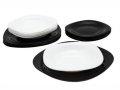 crno bijeli tanjuri Luminarc