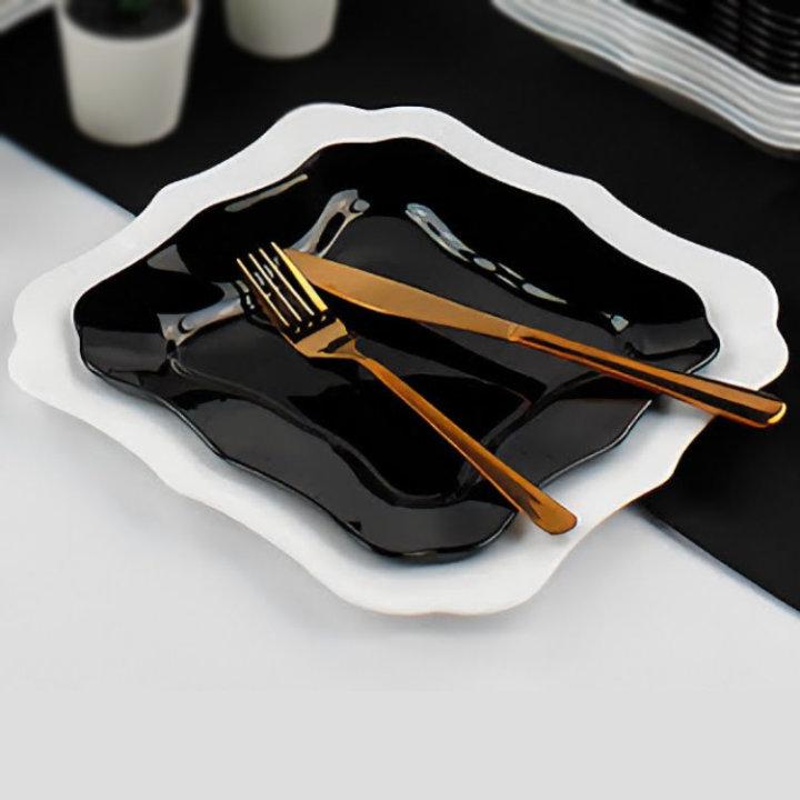 crno-bijeli tanjuri