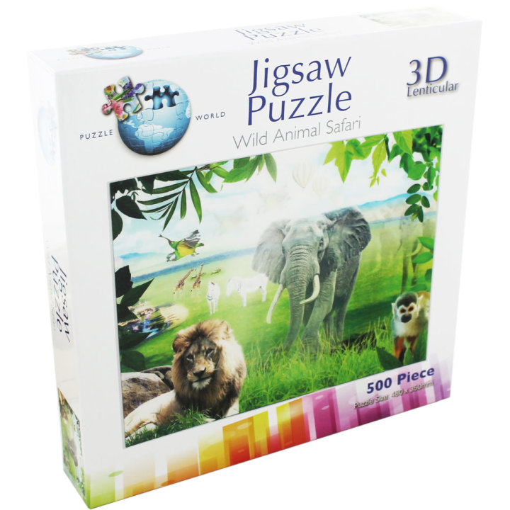 PUZZLE 3D LENTIKULARNE  500dj. 4sort.48*35cm