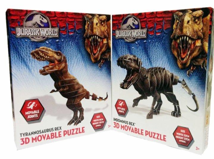 JURASSIC WORLD PUZZLE 3D MODEL DINOZAVER 32x37 CM