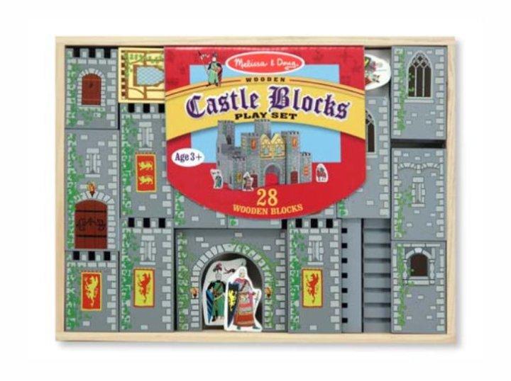 Kocke drveni dvorac kocke 28 dijelne