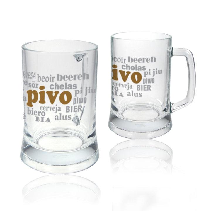"""Pokloni za pivopije krigla s tiskom """"pivo, cervesa, bira"""""""