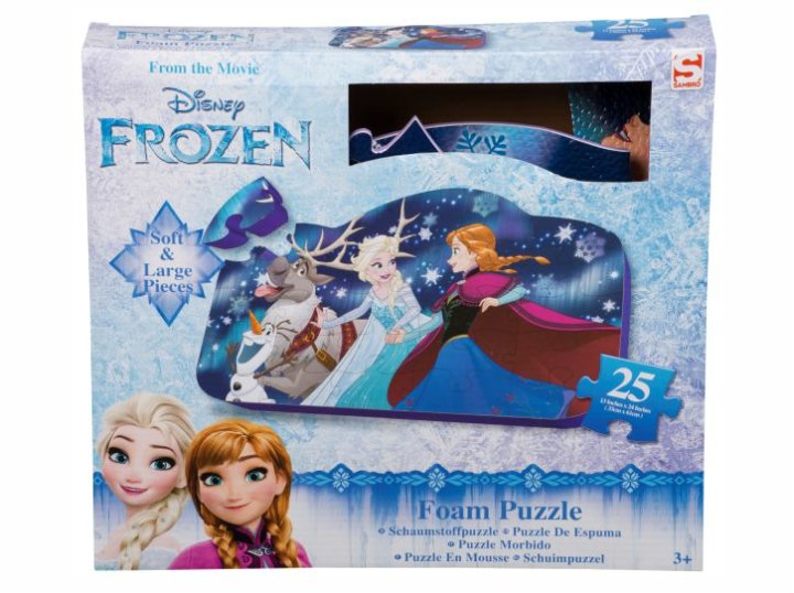 Spužvaste puzzle Frozen