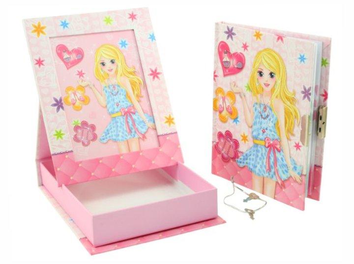 Pokloni za djevojčice dnevnik sa ključićem i okvirom