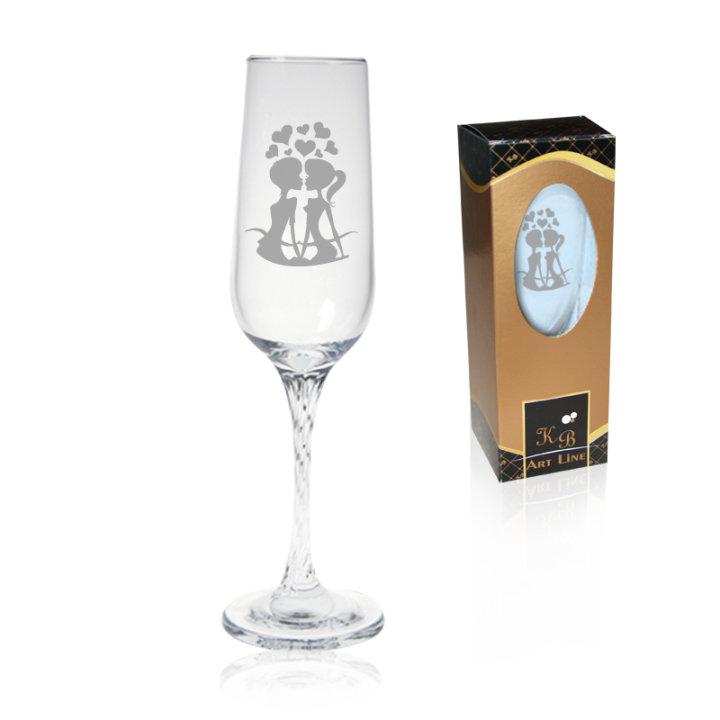 Pokloni za zaljubljene - pjeskarene čaše