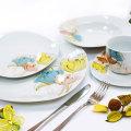 30 dijelni servis za jelo - cvijeće u boji