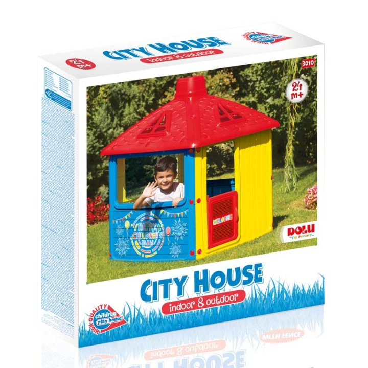 DJEČJA KUĆICA ZA IGRU - CITY HOUSE 132x104x104 CM