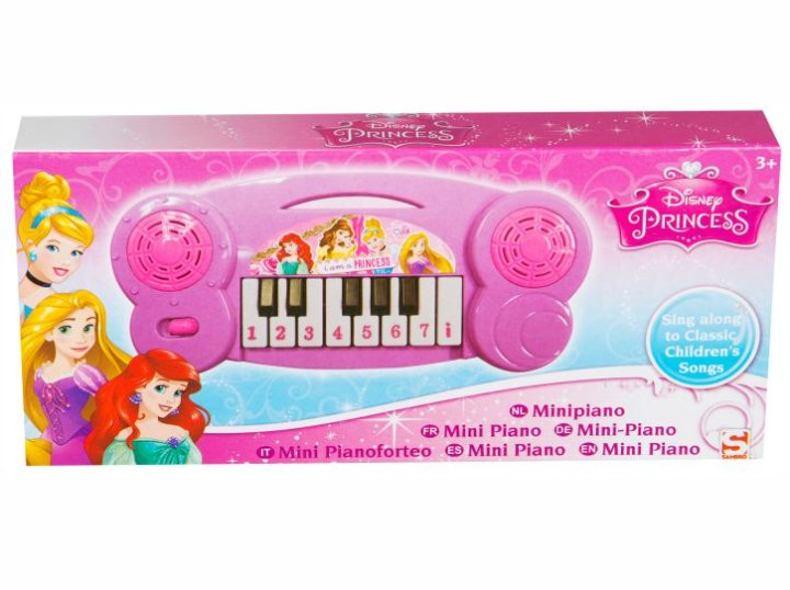 PRINCESS MINI PIANO NA BATERIJE U KUTIJI 19x9 CM