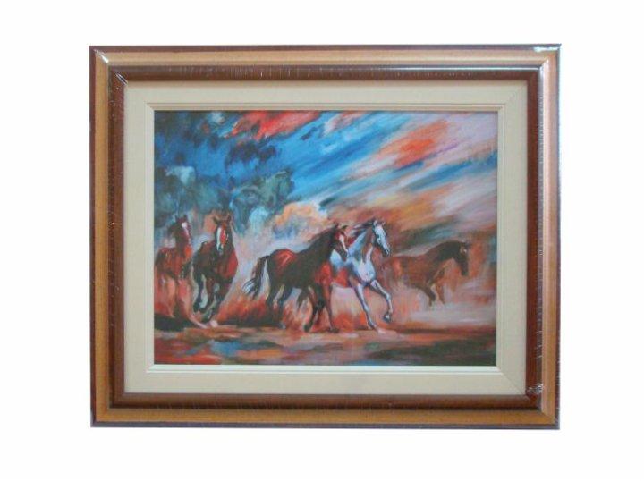 Zidna slika s drvenim okvirom Canvas