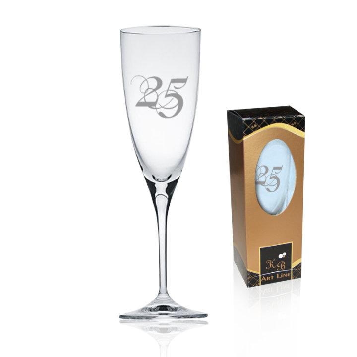 Čaša za pjenušac | poklon za 25 godina braka