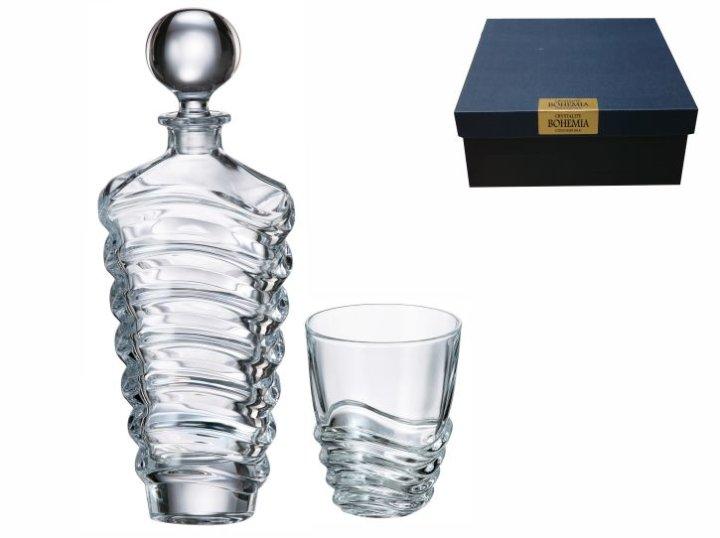 Whiskey set kristalin Wave 7 del. (6+1)