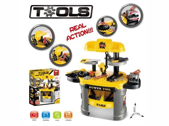 Set orodje in delovna miza 2V1 58x45,5 cm