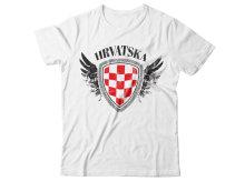 MAJICA HRVATSKA - bijela 2XL