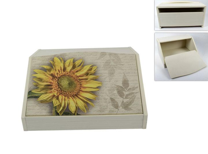 Kutija za kruh drvena - suncokret