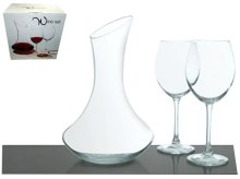 SET ZA VINO ITALIA 3 DIJELNI ( DECANTER + 2 ČAŠE 51 CL )