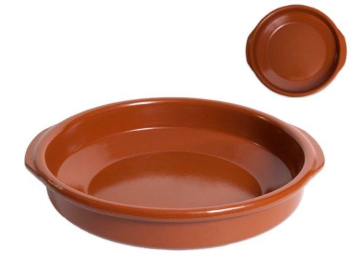 Pekač okrugli keramički smeđi