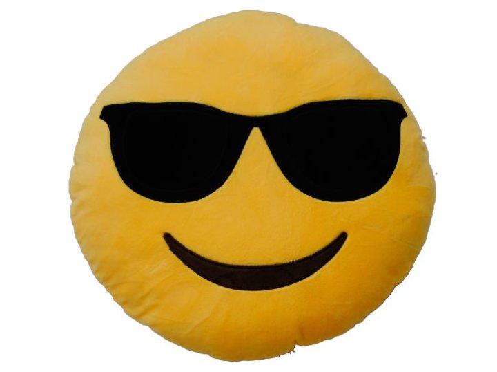 Jastuk emotikon - sunčane naočale