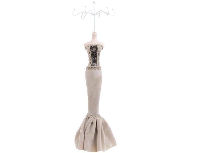 Stalak za nakit večernja haljina bež