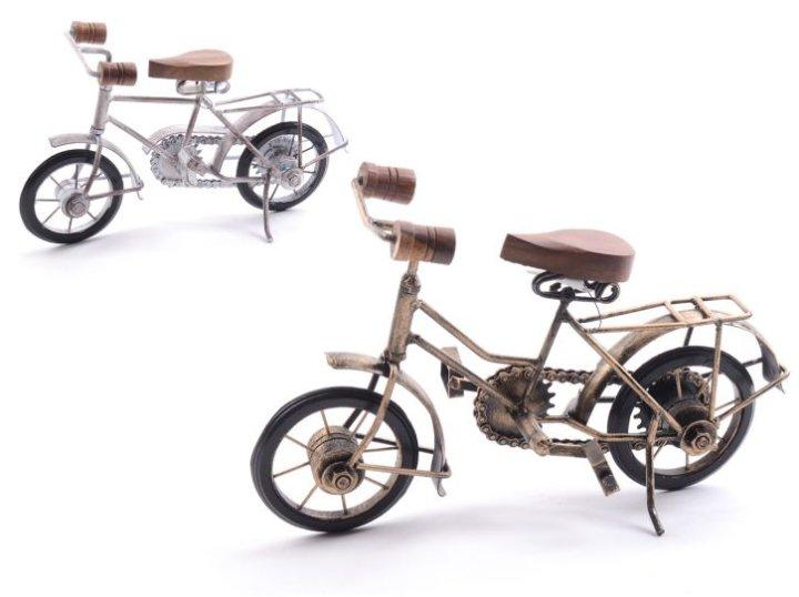 Dekoracija bicikl drvo i metal