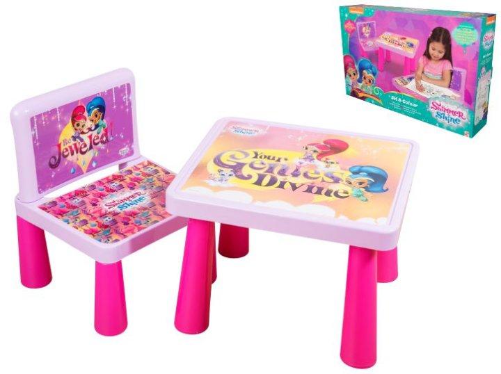 Stolić sa stolicom i priborom za crtanje Shimmer & Shine