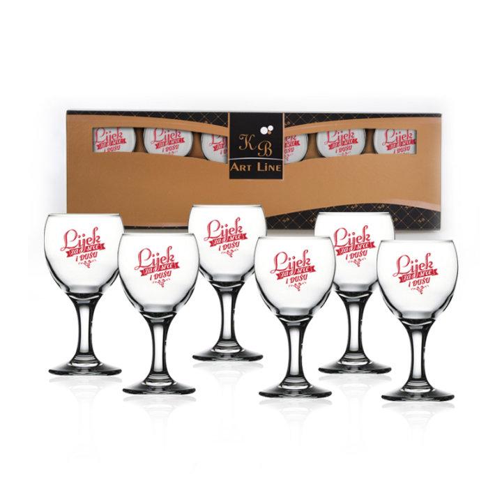 Čašice za liker, 6 komada u poklon kutiji