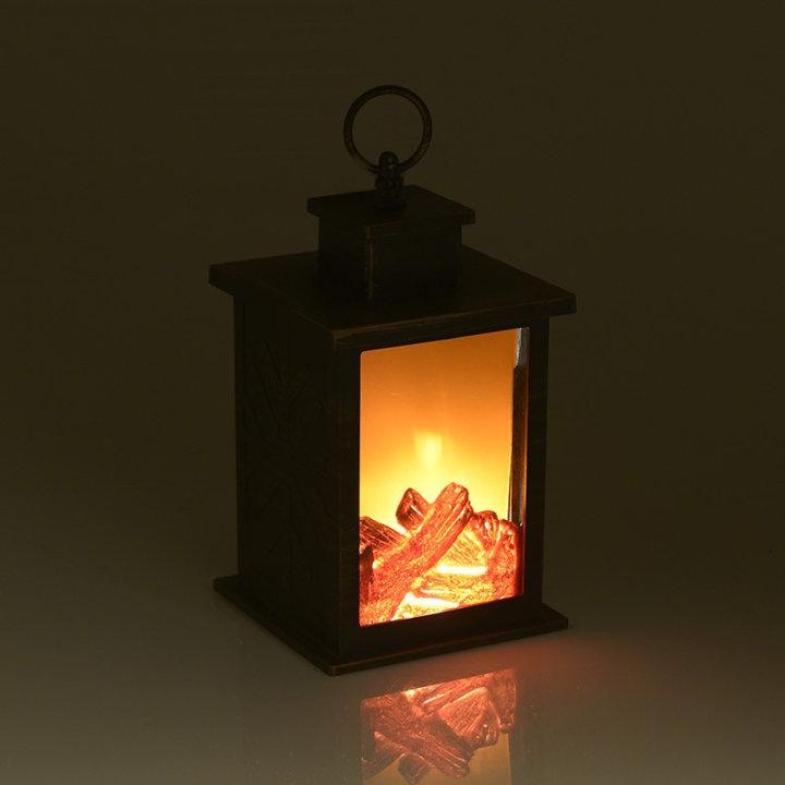 Dekorativna lanterna sa svjetlećim ložištem, na baterije