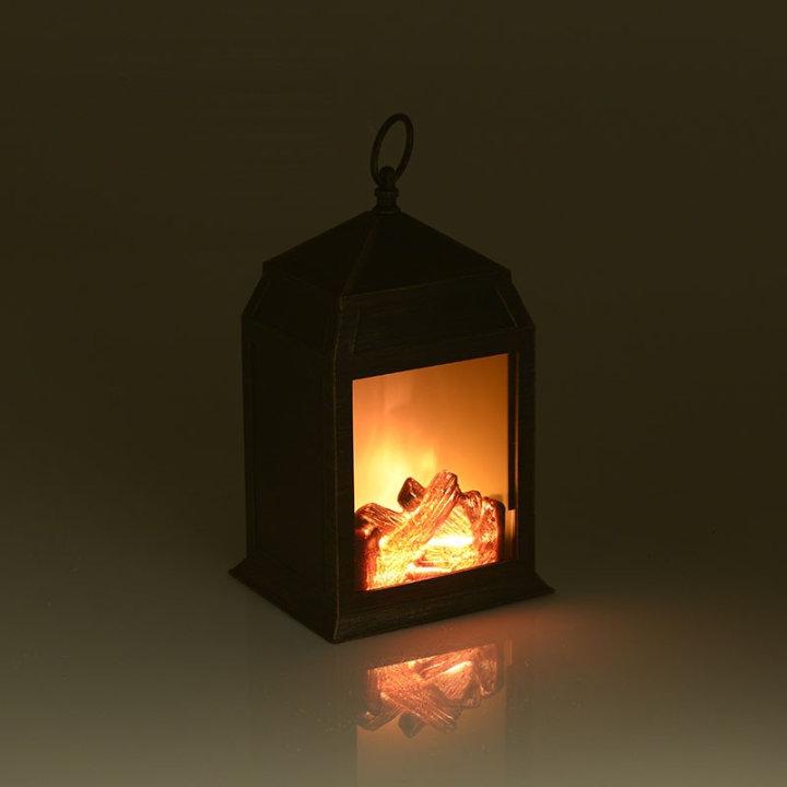 Lanterna dekorativna sa svjetlećim ložištem na baterije