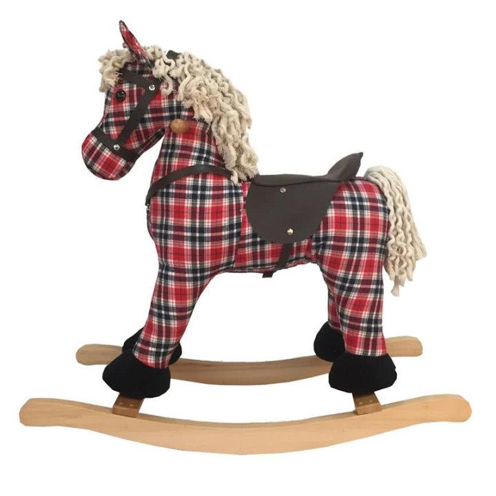 Konjić za ljuljanje - karirani
