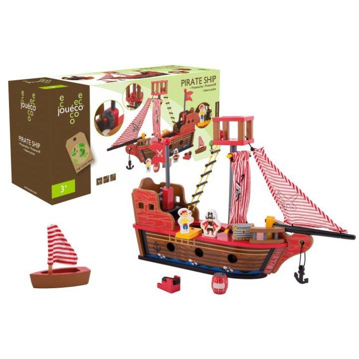Drveni gusarski brod s dodacima za igru - Joueco