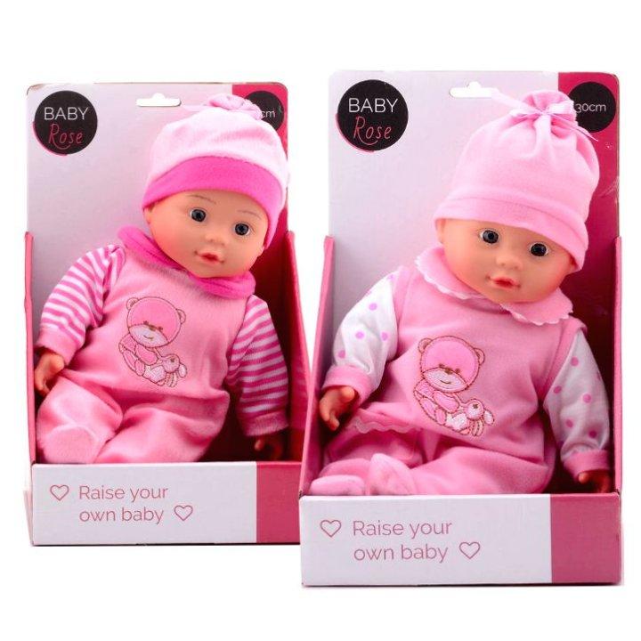 Lutka dojenče 30 cm - Baby Rose