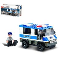 KOCKE POLICIJSKO VOZILO 126 DIJELNE 23,5x14 CM - SLUBAN