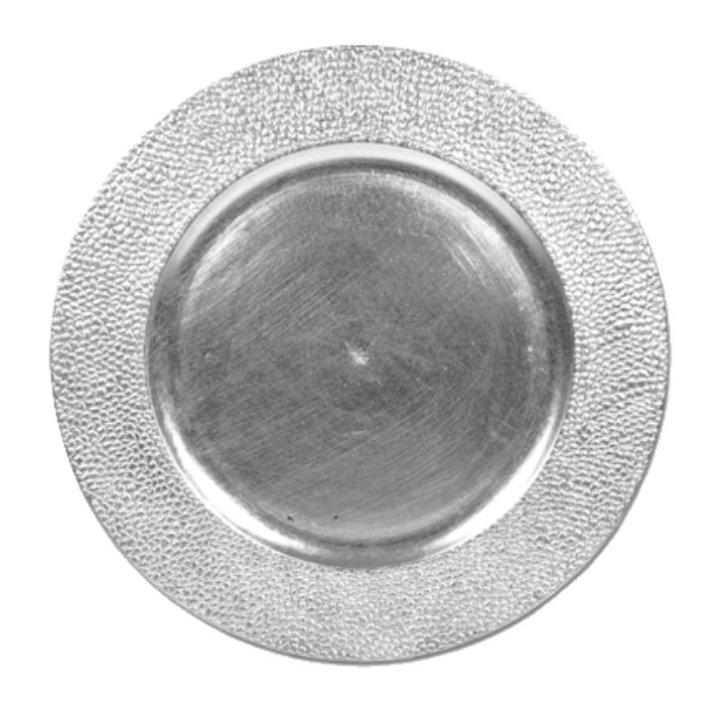 TANJUR DEKORATIVNI SREBRNI 33 CM - PVC