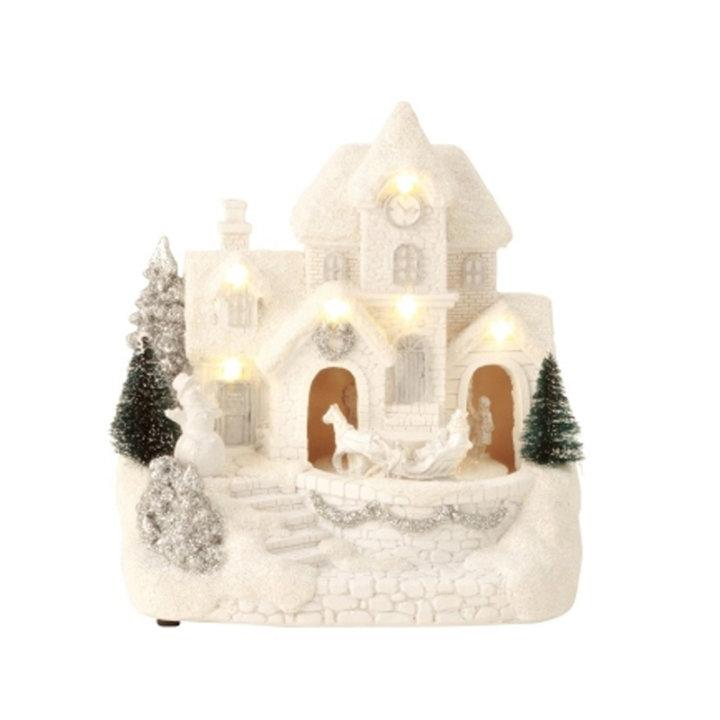 Božićno selo s led svjetlom 19x17 cm
