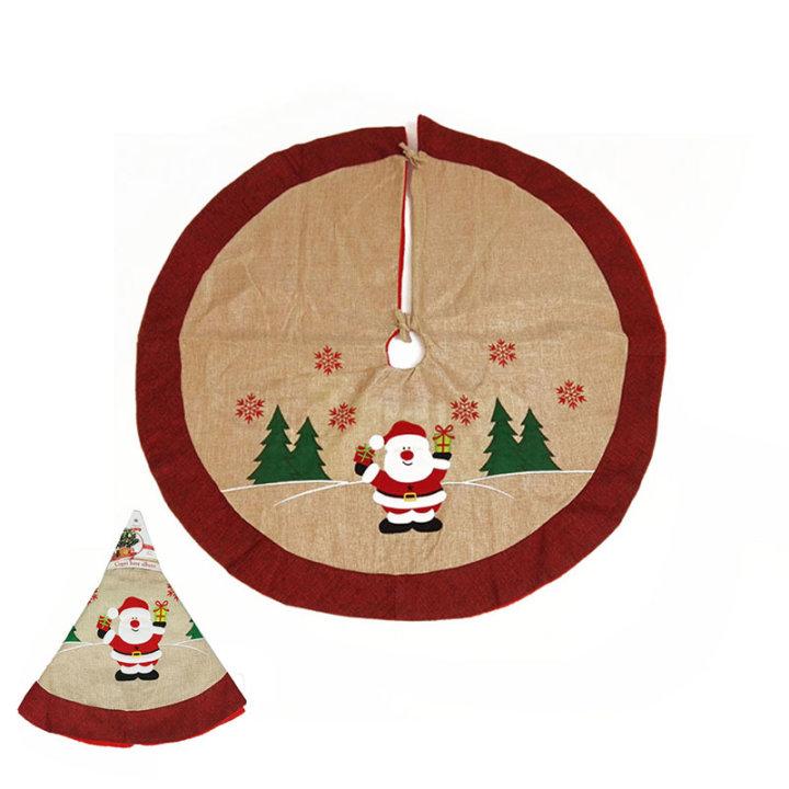 Podloga ispod bora juta s Božićnim dekorom 90 cm