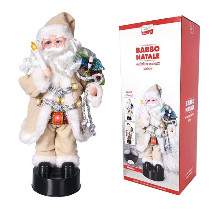 Božićnjak muzički sa svjetlom i pokretima 40 cm