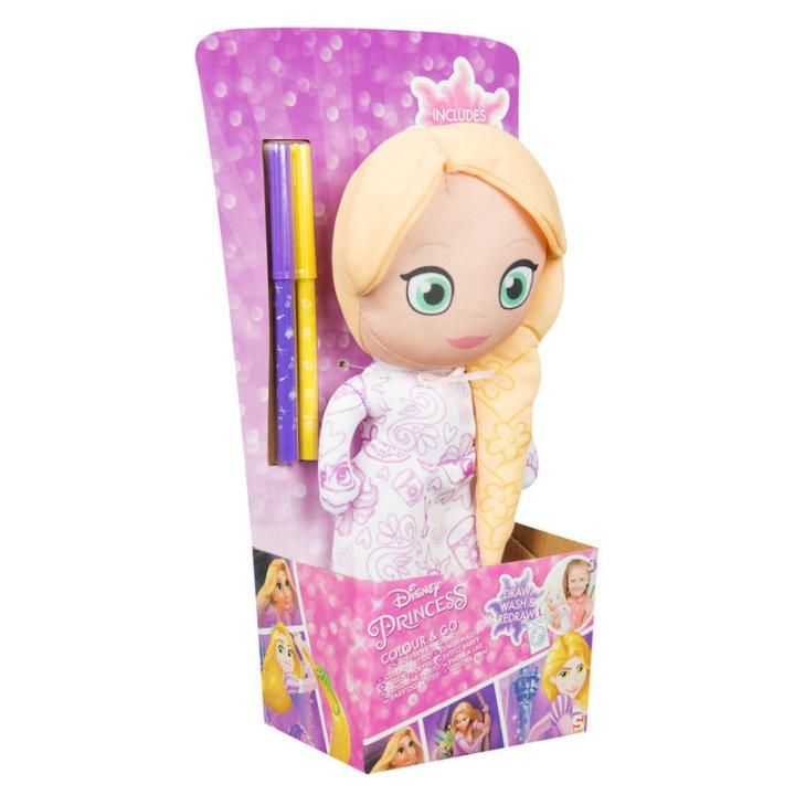 Princess lutka krpena i boje za bojanje haljine  30x17 cm