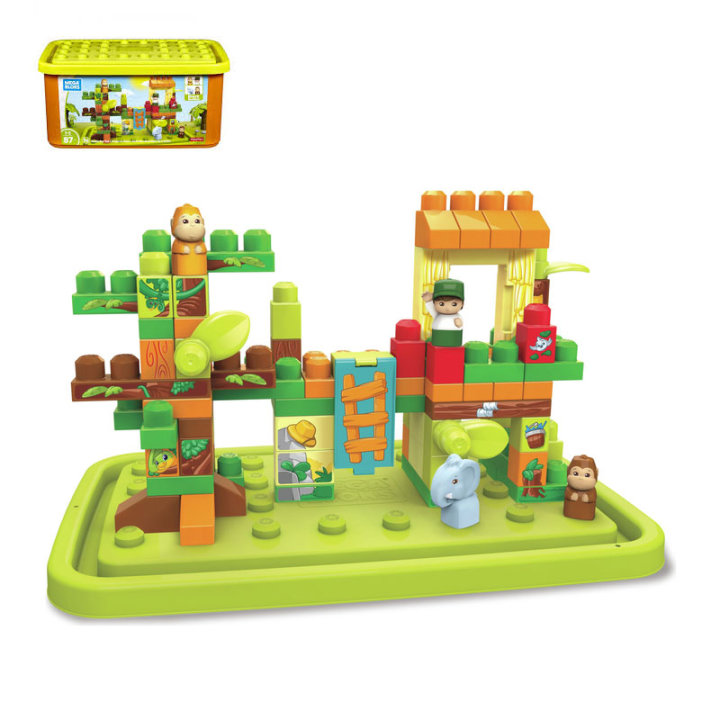 Fisher Price - kocke mega bloks džungla 87 dijelne
