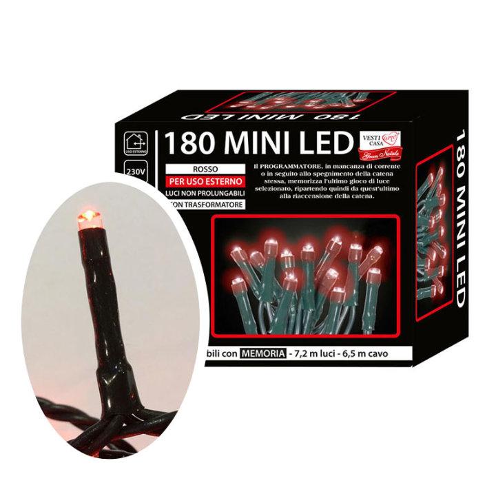 Žaruljice za bor mini led 180/1 crvene s funkcijama vanjske
