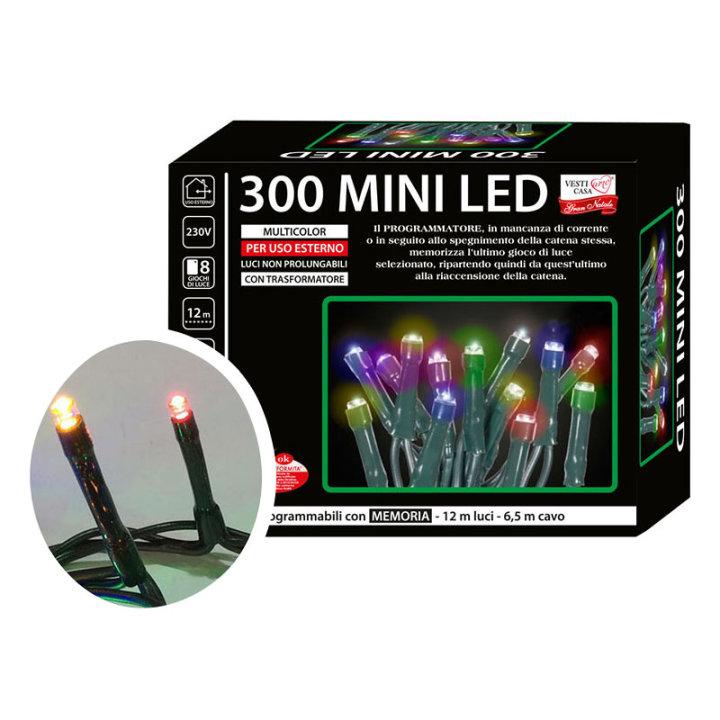 Žaruljice za bor mini led 300/1 multicolor s funkcijama vanjske
