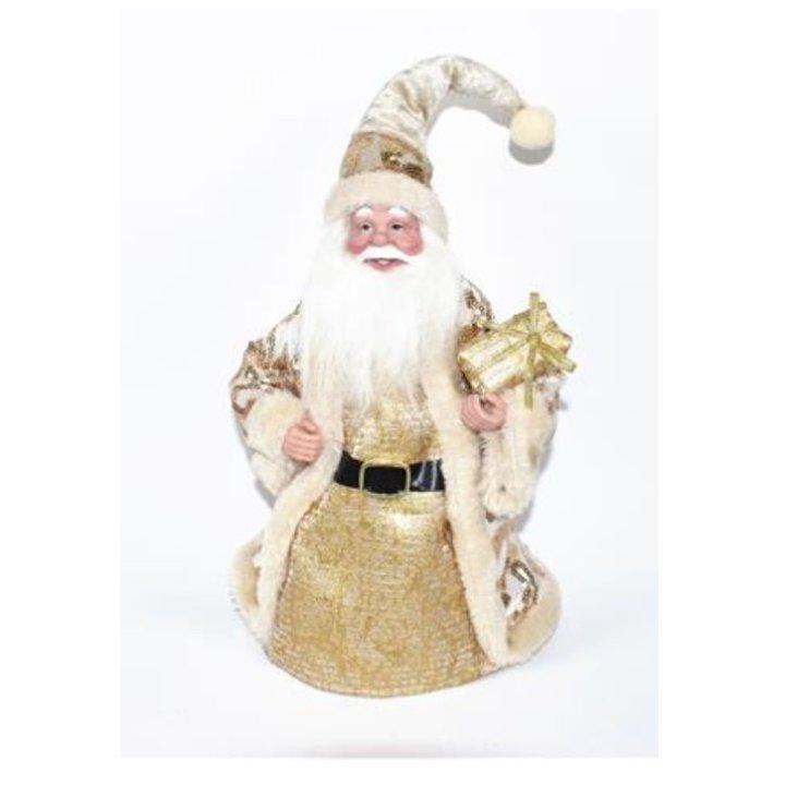 Božićnjak dekoracija zlatno-bijeli 28 cm