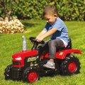 Crveni dječji traktor na akumulator Dolu