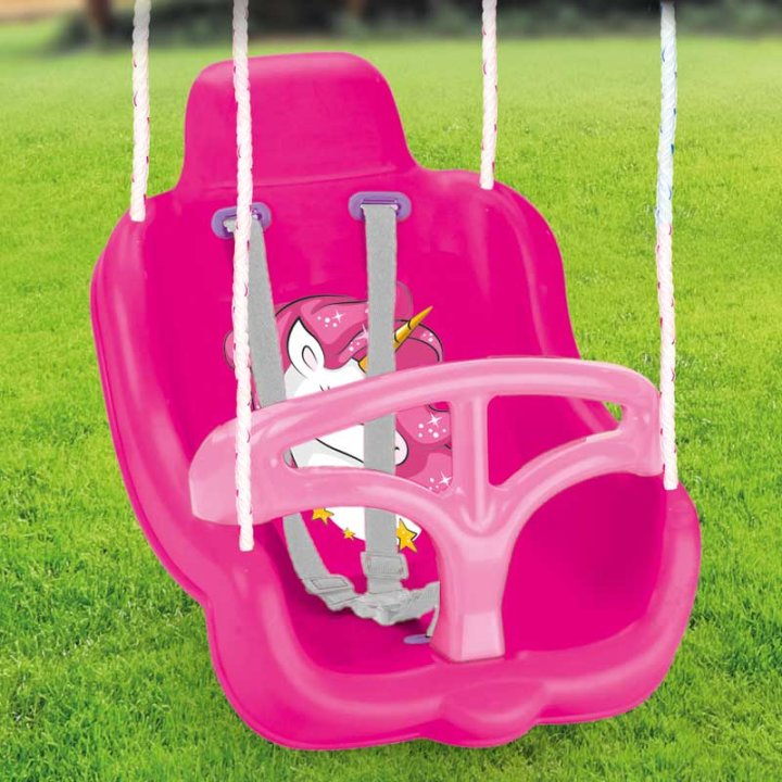 Ljuljačka sjedalica sa zaštitom i remenjem - Jednorog
