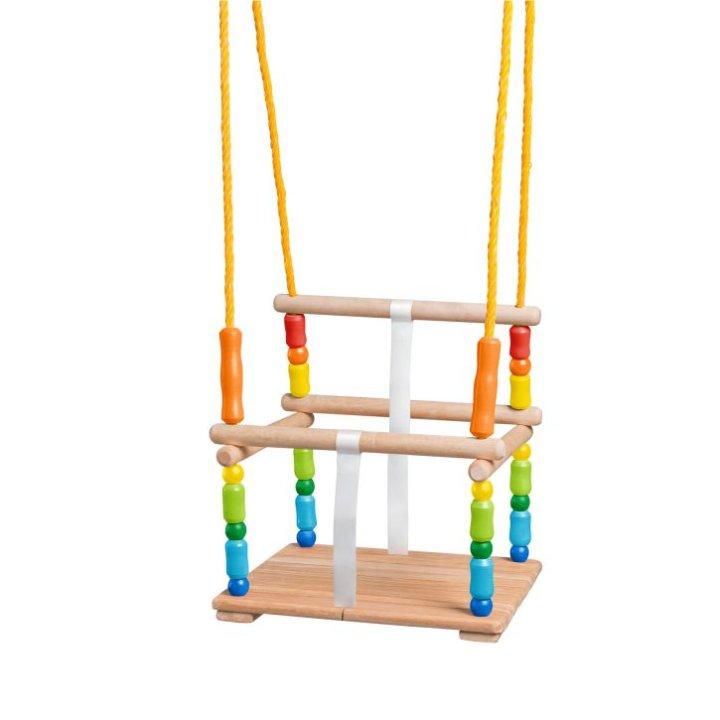 Drvena ljuljačka sjedalica sa zaštitom 35 kg