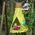 Ljuljačka - šator 2u1, okrugli sa žaruljicama - na baterije 103 cm