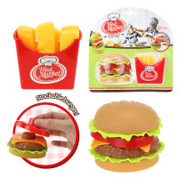 FAST FOOD SET HAMBURGER I KRUMPIRIĆI NA BLISTERU 20 CM