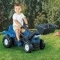 Traktor na pedale s utorivačem Ranchero plavi