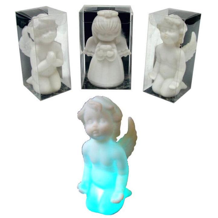 anđeo figura s led svjetlom