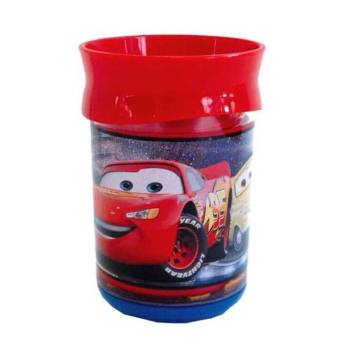 cars čaša s plutajućim gliterima 11 cm